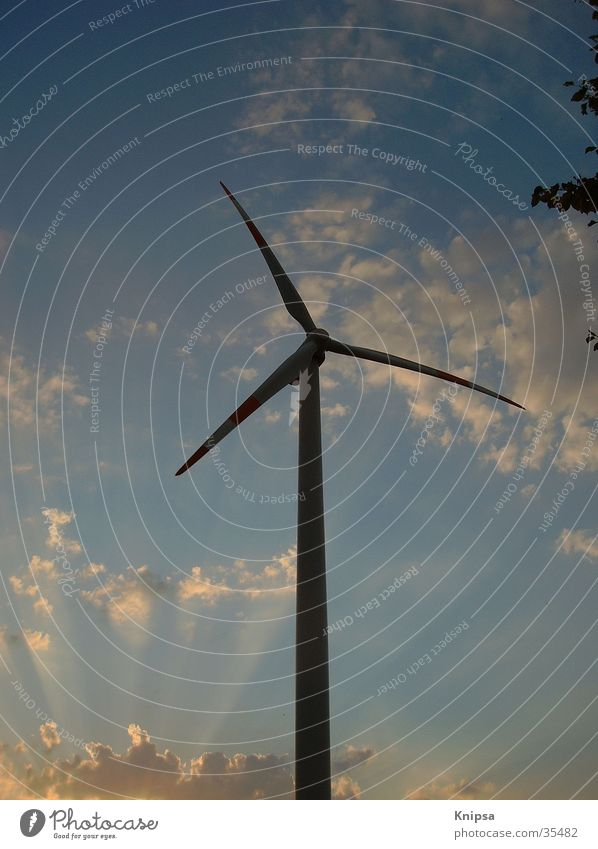 Clouds Industry Electricity Wing Wind energy plant Alternative Propeller