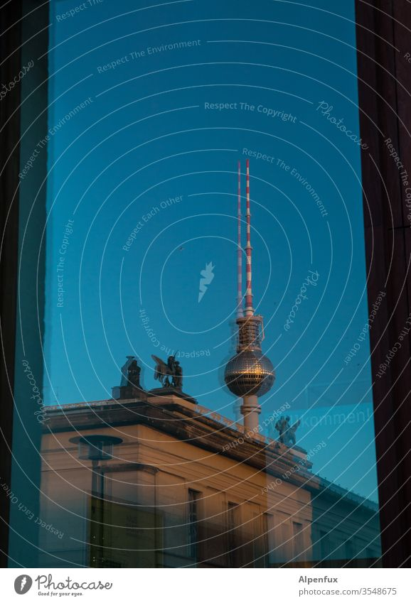 dual leadership Berlin Downtown Berlin Capital city Town Deserted Exterior shot Landmark Television tower Tower Alexanderplatz Berlin TV Tower