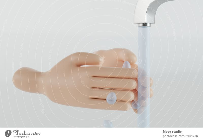 3D Illustration. Wash your hands to prevent infection. Covid-19. hygiene 3d illustration coronavirus covid-19 care protection disinfectant infected health care