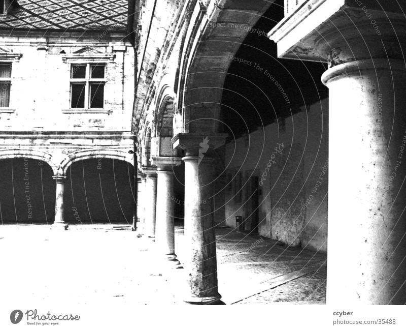 White Black Architecture Historic Column