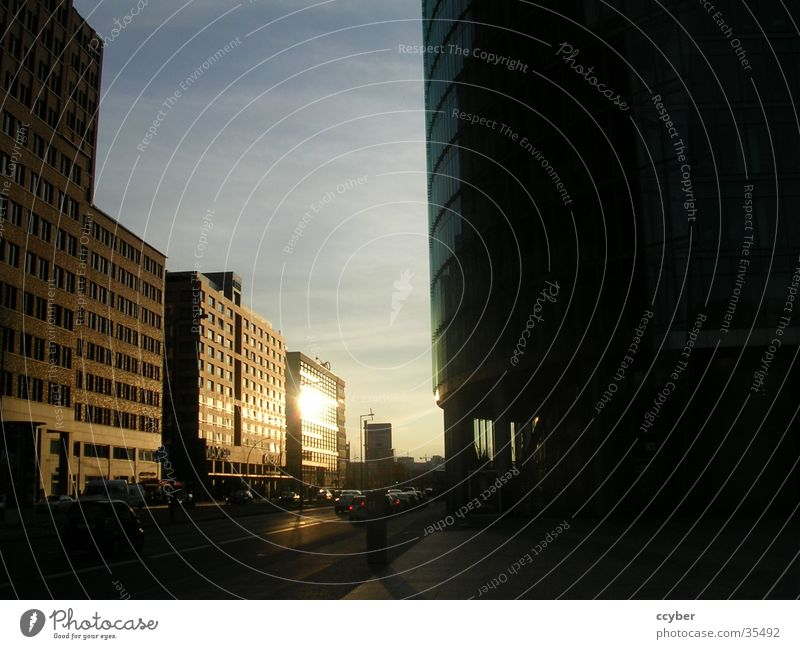 Sunset Berlin Potsdamer Platz Sony Center Berlin Town Building Europe Capital city
