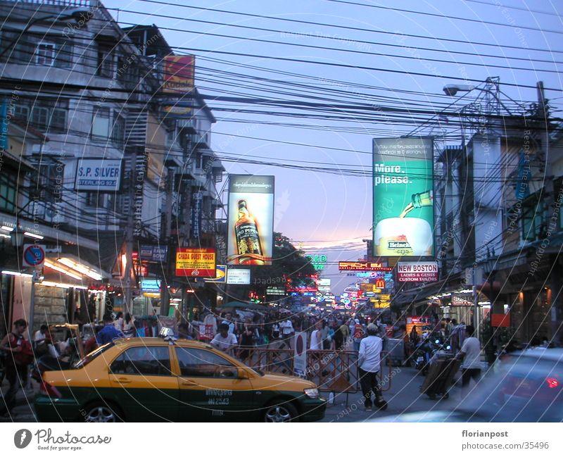 Khao San Road Bangkok Twilight Thailand Neon light Success