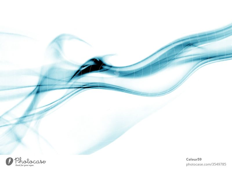 Blue Smoke over bright background wallpaper space creativity magical stream flowing air motion smoke abstract effect isolated wave design smooth shape blue