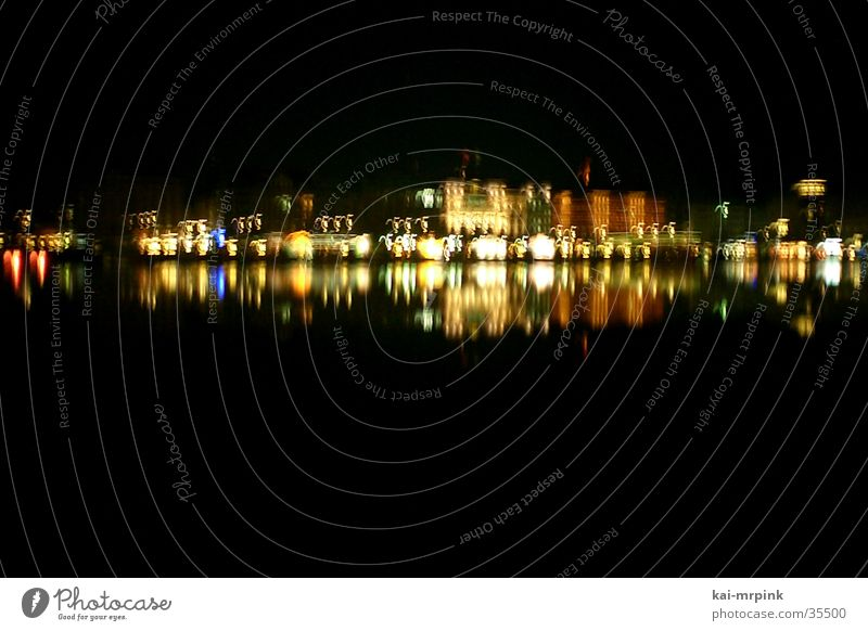 Hamburg Club Skyline Night Alster