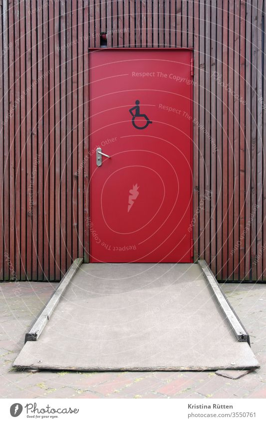 improvised ramp to the disabled toilet handicapped toilet Toilet Disability friendly wheelchair users Ramp john LAVATORY washroom Access Accessible Sign symbol