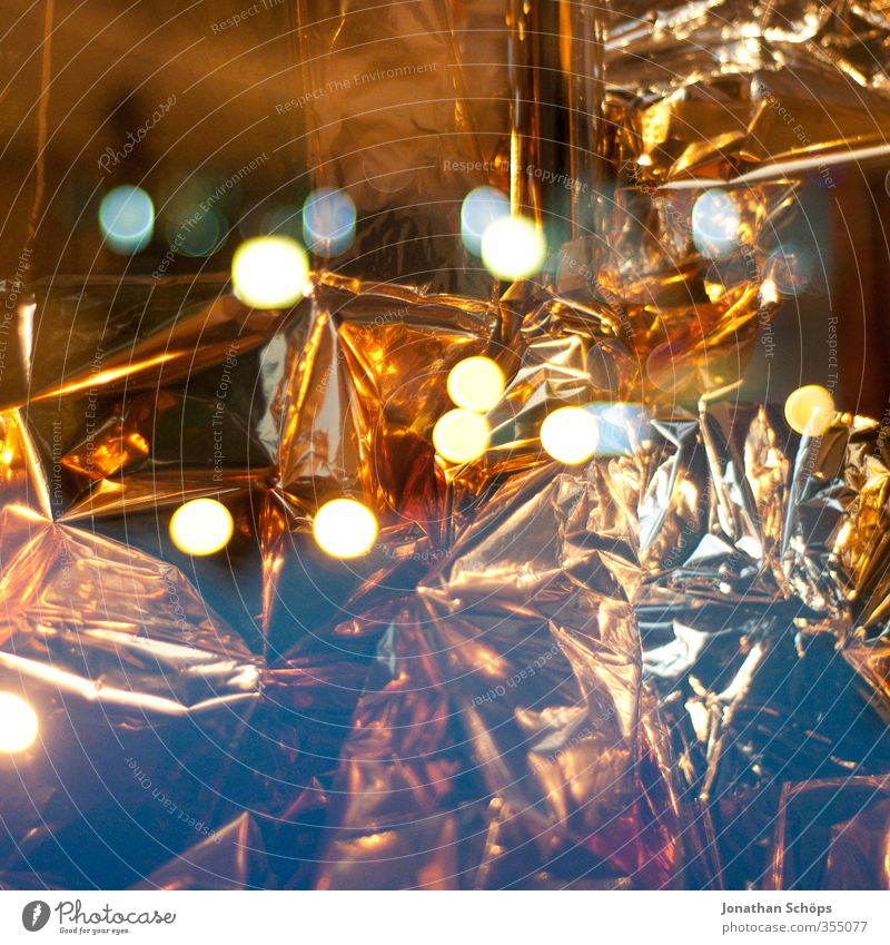 gold Art Esthetic Gold Gold foil Light Blur Illuminate Double exposure Wrinkled Reflection Abstract Glittering Precious Colour photo Exterior shot