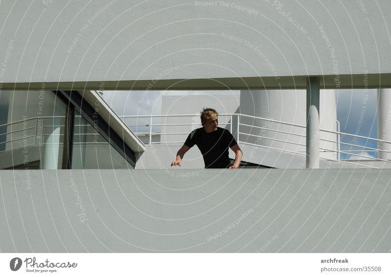 Man Sun Window Facade Paris Escape
