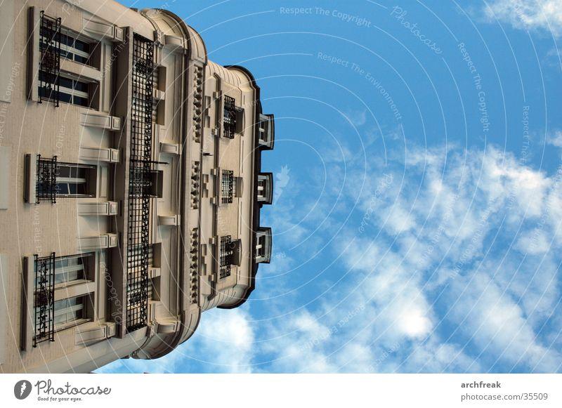 Sky Clouds Architecture Facade Perspective Paris Balcony Stucco