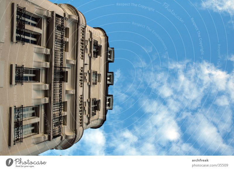 Sky Clouds Architecture Facade Perspective Paris Balcony Stucco