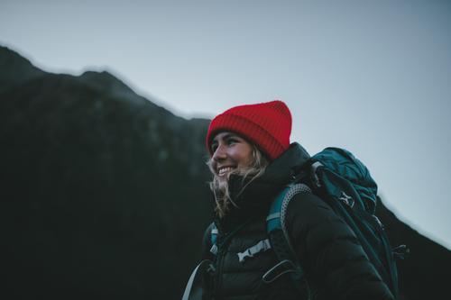 #As# morning walk hiking trail Peak Wanderlust feminine Femininity Force outdoor Woman Tourism New Zealand Landscape Mountain Exterior shot Vacation & Travel