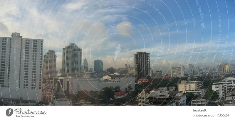 City Clouds Building Architecture High-rise Asia Thailand Bangkok