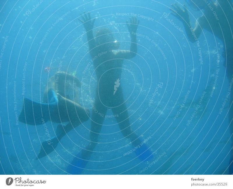 Human being Water Ocean Graffiti Perspective Dive