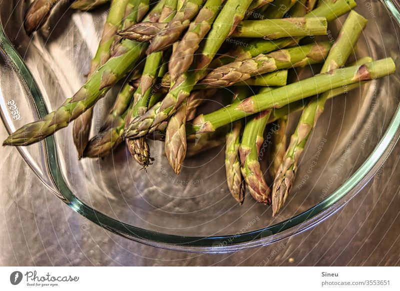 Green asparagus Asparagus green asparagus Asparagus tips Spring dinner salubriously Vegetable spring vegetables Vegetarian diet Asparagus season Nutrition