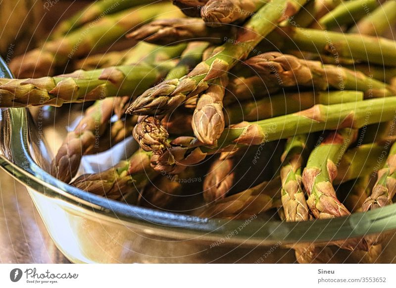 Green asparagus tips Asparagus green asparagus Asparagus tips Spring dinner salubriously Vegetable spring vegetables Vegetarian diet Asparagus season Nutrition