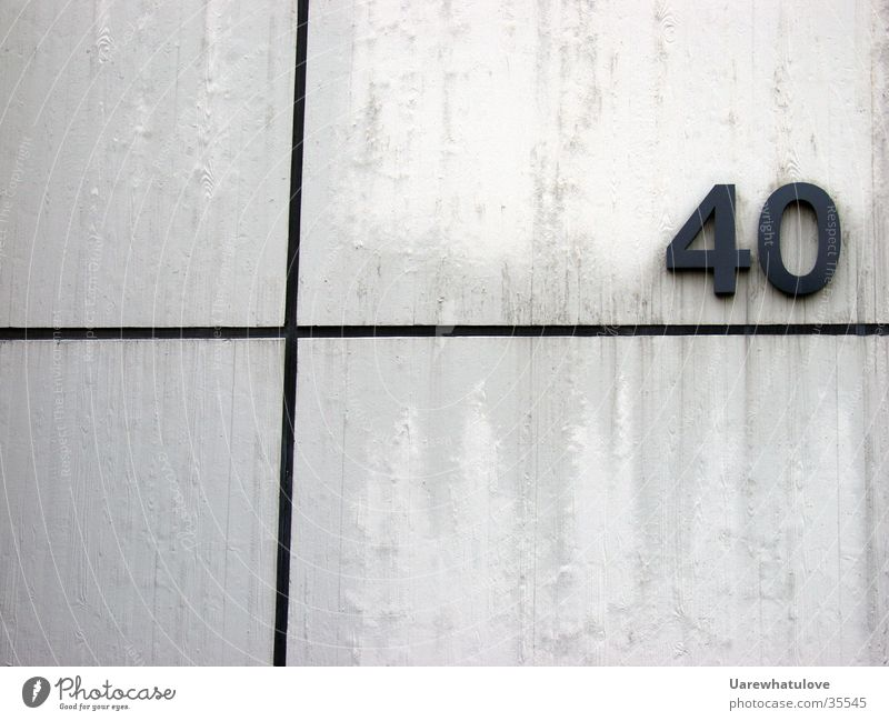 White Black Wall (building) Line Architecture Back Digits and numbers House number