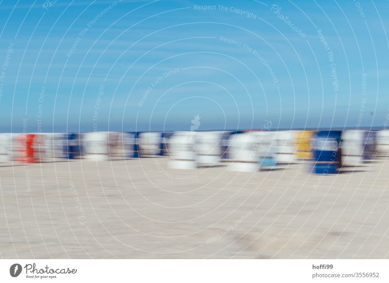 abstract beach impression - nobody there Beach Abstract blurred blurred background Motion blur hazy Blur blurred movement Summer Summer vacation Exterior shot