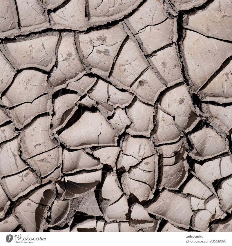 Vertical view of dry cracks in the floor that form a pattern Broken floor atacama Desert aridity canyon Pattern Unicoloured Exterior shot Nature Deserted Chile