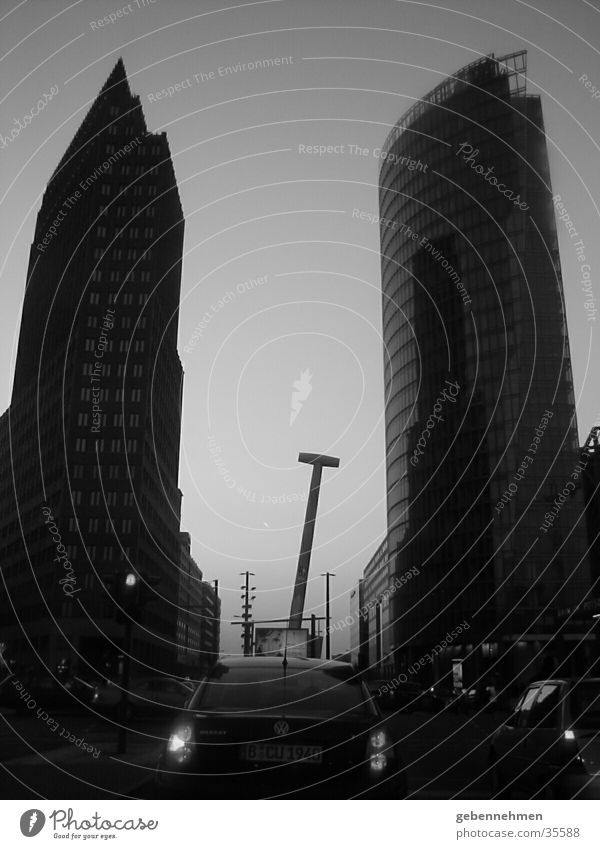 City Berlin Architecture Dusk Potsdamer Platz