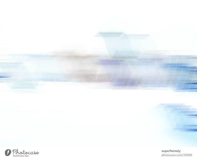abstract 001 Cyan White Background picture Photographic technology Blue streak Movement