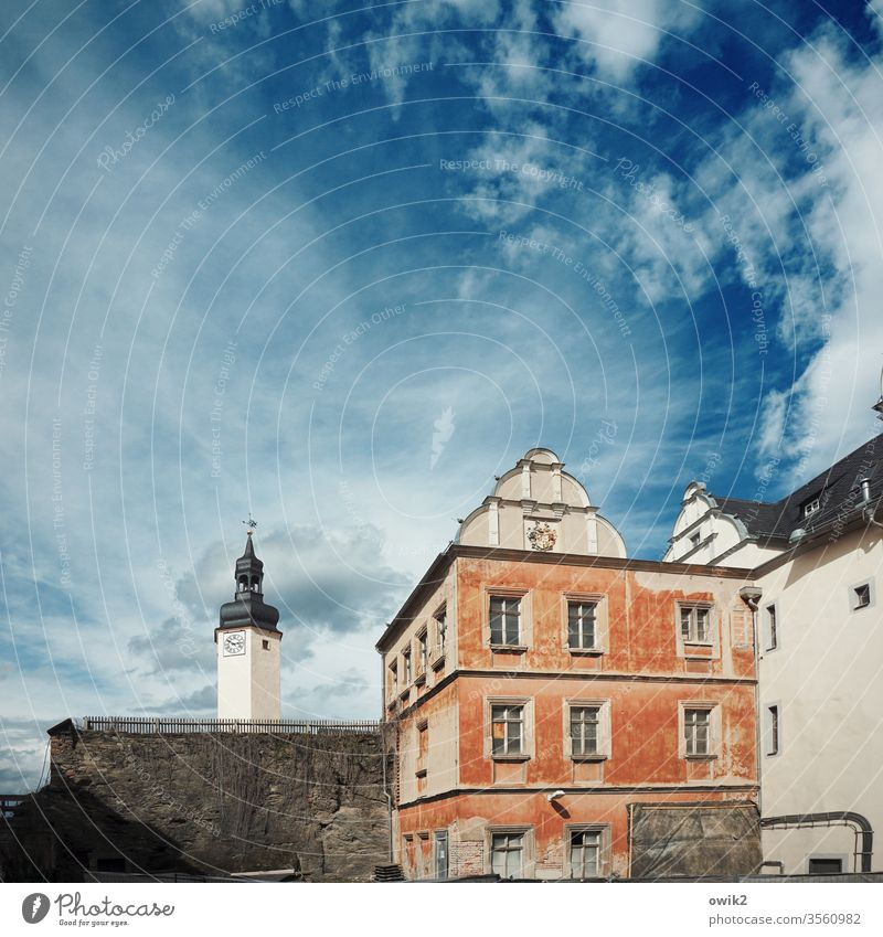 Greiz Lock Tower House (Residential Structure) Old Mountain castle greiz Thuringia Eastern Germany Castle Exterior shot Colour photo Day Deserted Architecture
