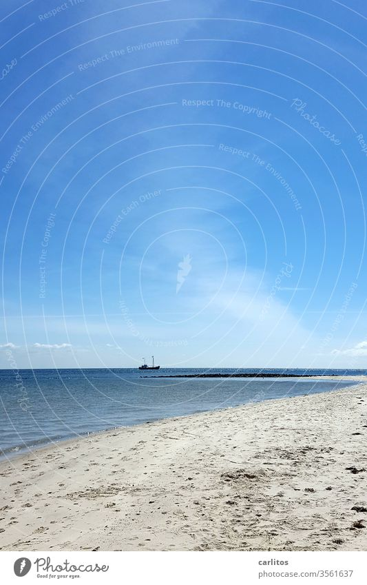 North Sea | Sylt (nice and fresh) List Beach Coast Sand Ocean Vacation & Travel Summer Deserted Exterior shot Island Nature Sky Blue Beautiful weather Water