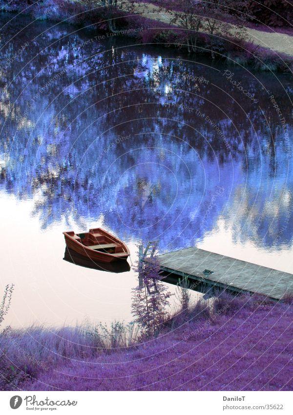 Water Watercraft Footbridge Photographic technology Colour tone