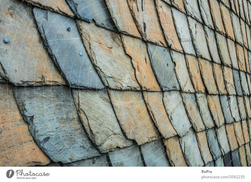 Detailed view of a slate wall in the Harz Mountains. masonry Slate reinforcement Stone Natural stone Stone wall Wall (building) rampart Manmade structures