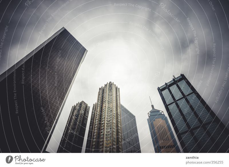 skyline Bad weather Town Skyline Deserted High-rise Architecture Threat Dark Firm Gigantic Large Cold Modern Business Financial Industry Trade Competition