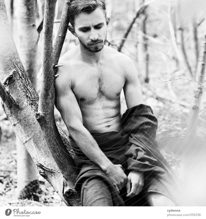 Waldmann VI Beautiful Body Healthy Human being Young man Youth (Young adults) Life 18 - 30 years Adults Environment Nature Summer Tree Forest Adventure