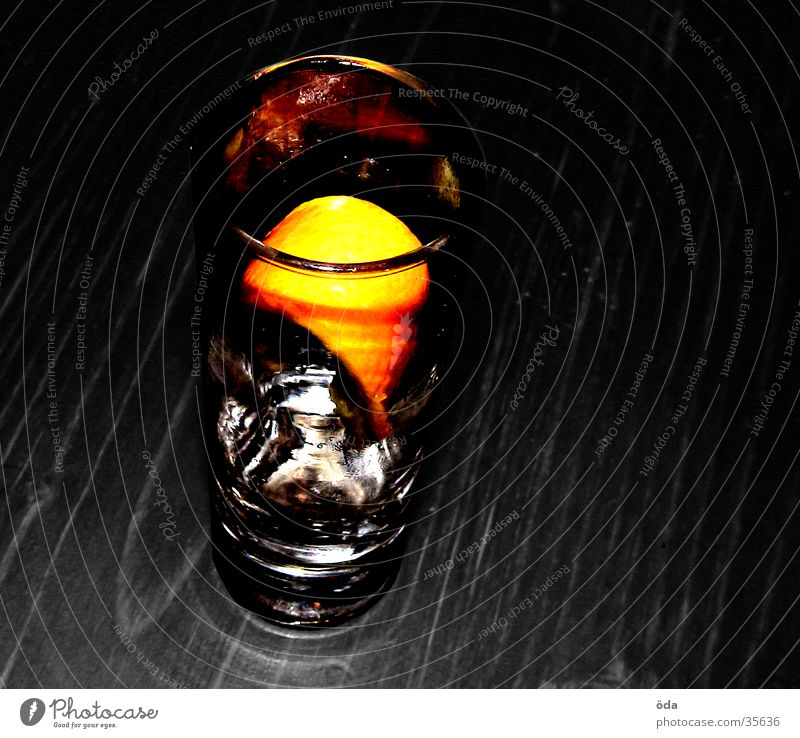 Ice Orange Glass Drinking Alcoholic drinks Ice cube