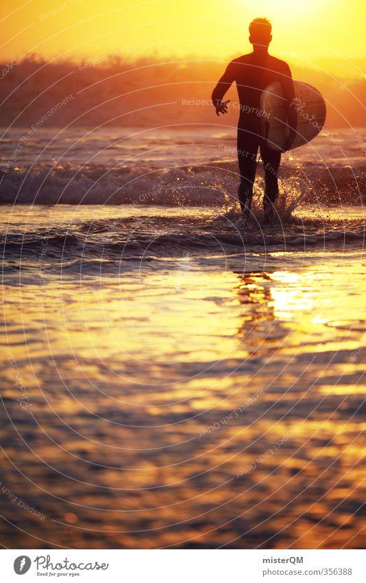 Man Water Sun Ocean Style Art Masculine Waves Leisure and hobbies Elegant Contentment Walking Lifestyle Esthetic Political movements Adventure