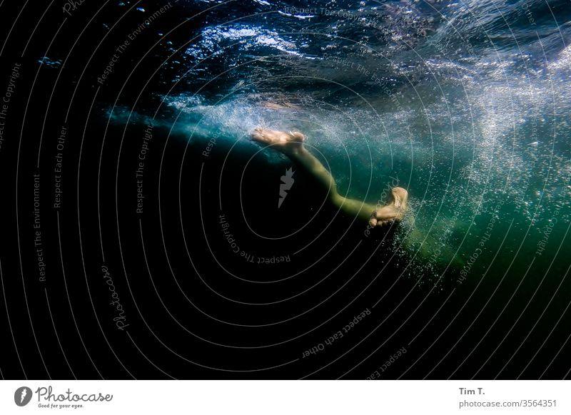 underwater Lake Woman foot Underwater photo gopro lake Water Swimming & Bathing Dive Vacation & Travel girl Playing Blow Snorkeling Legs liepnitzsee Brandenburg