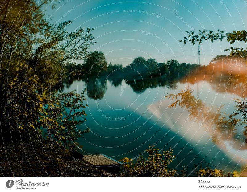 Lake Bavaria bathe Summer Sun reflection effect Swimming & Bathing Reflection Wet Vacation & Travel Nature Landscape Abstract