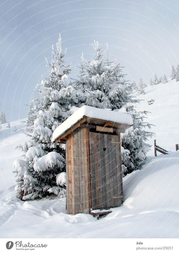 Winter Snow Village Toilet Historic Latrine