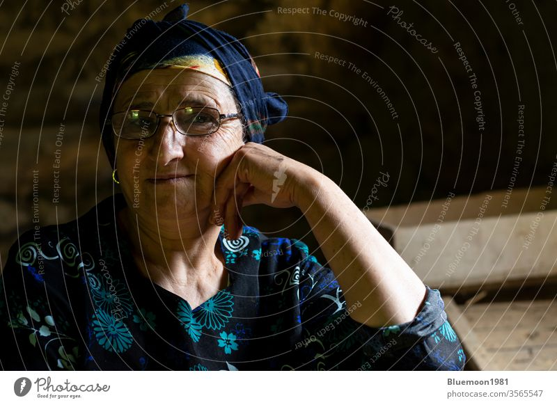 Close up portrait of an elderly Muslim woman Woman life old middle age confident lifestyle female people stylish culture ethnicity folk custom close-up nomadic