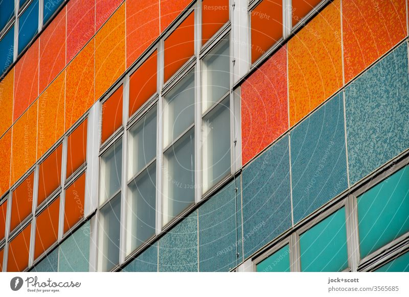 former Centrum Warenhaus Pattern Detail Quality Retro Window Facade Friedrichshain Shopping center GDR Socialism Structures and shapes Abstract Classical modern