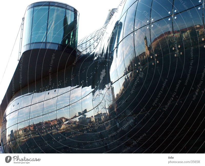 Kunsthaus Graz Reflection Manmade structures Glittering Architecture art house Glass Modern needle