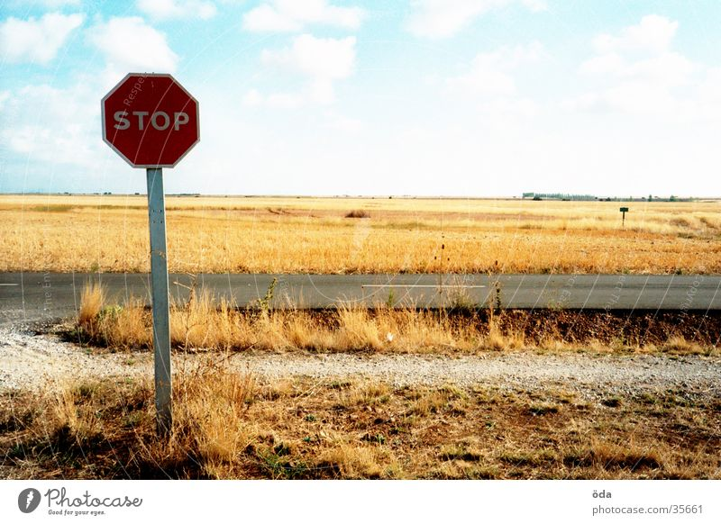 STOP Stop Hold Signs and labeling Lanes & trails Street Mixture Landscape Sky Way of St James