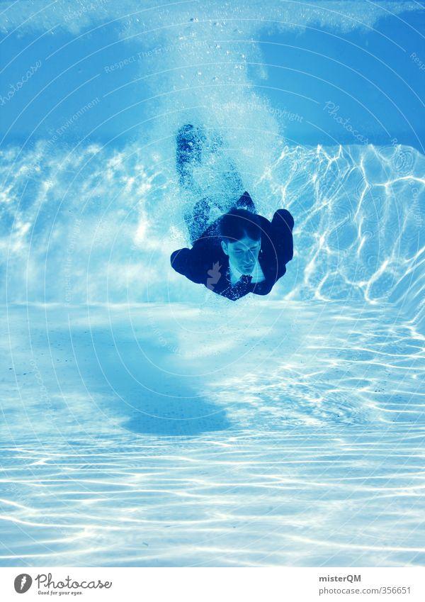 CareerStart II Art Esthetic Contentment Business Suit Tie Swimming pool Water Dive Underwater photo Vacation & Travel Vacation photo Vacation mood Blue