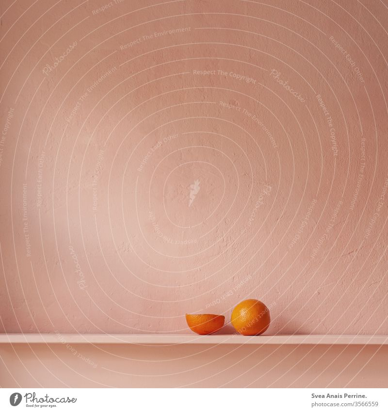 Pink Orange pink background Wall (building) Food photograph Still Life Eating Nutrition Bright already Healthy Eating daylight dwell Delicate Colour Contrast