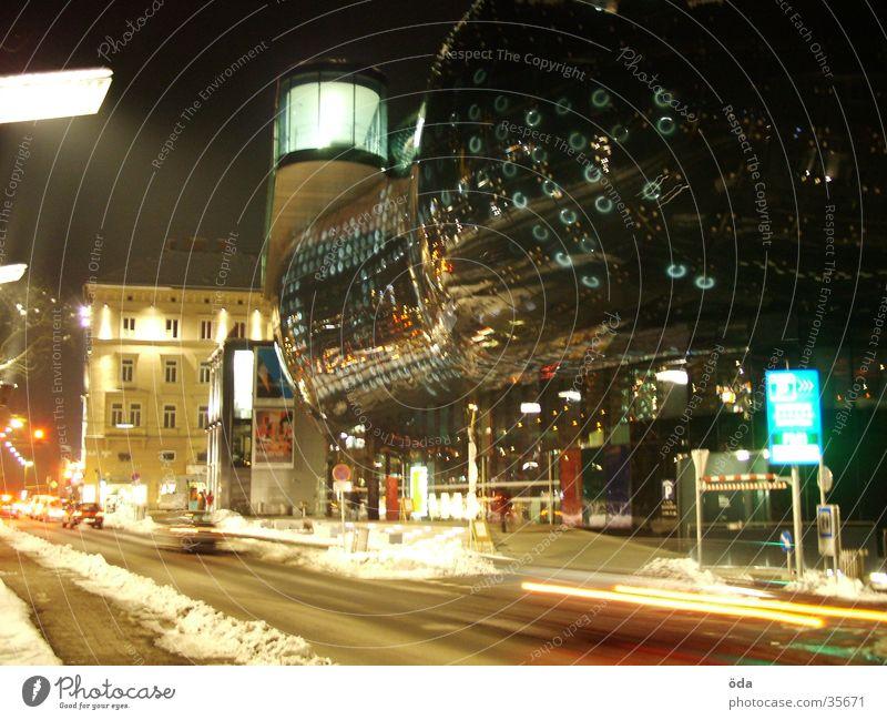 Art House #1 Graz Long exposure Light Style Architecture art house Car Lamp Modern Blur