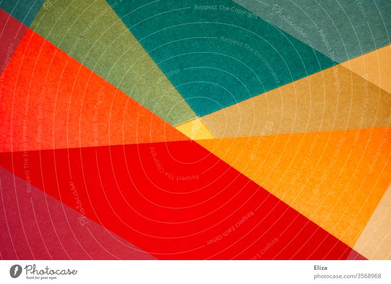 Colourful abstract and geometric shapes gemoetric Abstract variegated Work of art question background Sharp-edged overlap Structures and shapes Art Design