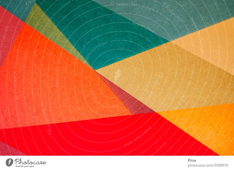 Colourful abstract and graphic geometric shapes gemoetric Abstract Work of art background Sharp-edged overlap Structures and shapes Art Design Pattern