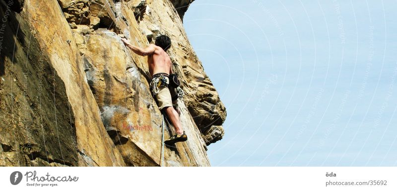 Vacation & Travel Wall (building) Mountain Rope Climbing Direction Belt Loop Sporting grounds Mountaineering Express Extreme sports Climbing facility Lead climb