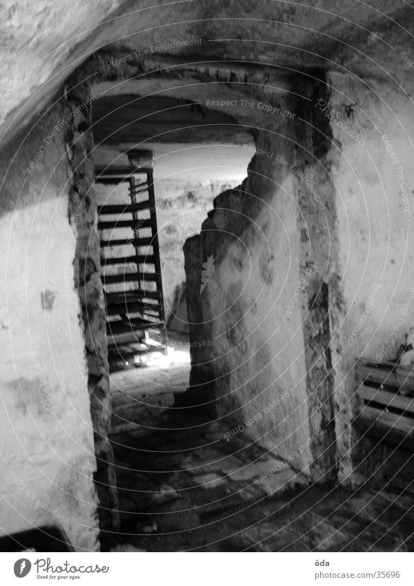 Old Dark Wall (barrier) Architecture Door Derelict Shaft of light Masonry