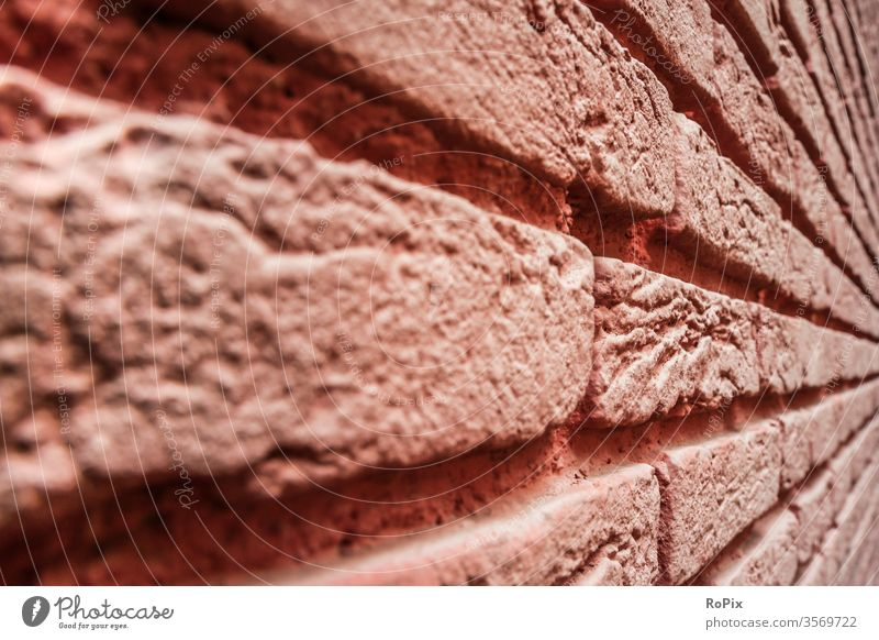 Brick wall abstractly seen. Wall (building) rampart by hand Fingers brick Architecture House (Residential Structure) house wall Town urban Art fingerprints