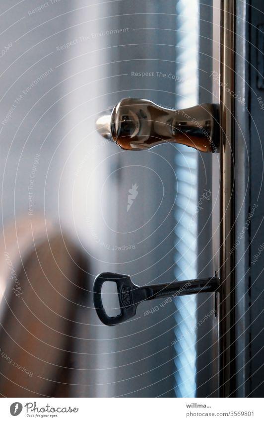 key experience Key door handle Front door key Brass handle locked
