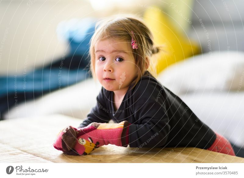 Two year old girl with big eyas portrait, Indoor shoot with natural light 1-3 yares old Child Family Selective Focus Toddler adorable baby background beautiful