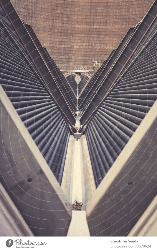 Inside a Cooling Tower for Power Station Africa Energy Johannesburg South Africa air atmosphere carbon chimney climate change coal cooling damage dioxide dirty