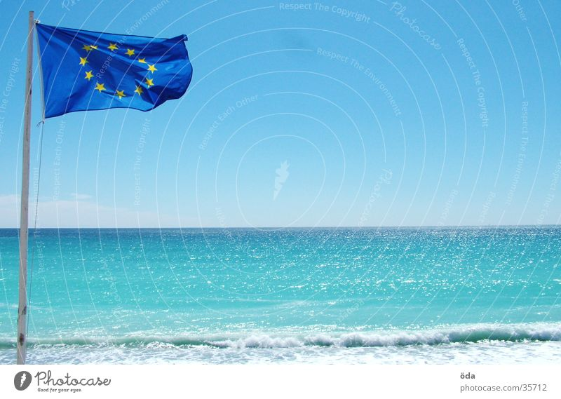 Sun Ocean Beach Europe Flag Vantage point Obscure